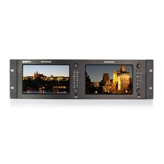 "M-1071H Rack LCD Monitor 7""x2 3GSDI & HDMI - SW.00143"