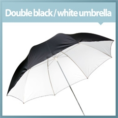 Umbrella Double Black/white 100cm - VL.00055