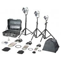 Filmgear Tungsteen Fresnel  1000W Junior 3 Kit-220V - FG.00163