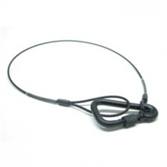 50Kg 1m Black Safety wire with Karabiner - AE.00484