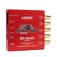 MD-QUAD Quad-Split /Multiviewer for 3G/HD/SD-SDI - DE.00007