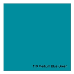 E-COLOUR + 116 Medium Blue Green 1.22x7.62m - RO.00254