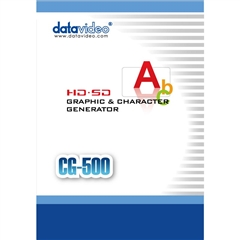 CG-500 HD/SD Graphics Character Generator - DV.00215