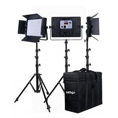 LEDGO LG-1200SC 3 KIT +T LED Studio Light - LD.00013