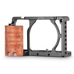 SmallRig 2082 Cage w/Wooden Handgrip for Sony A6000/A6300